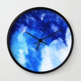 Forest and sky watercolor Abstract V3 Wall Clock