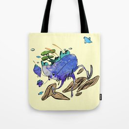 explore (blue) Tote Bag
