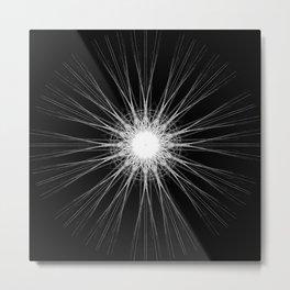 White Pin Wheel Metal Print