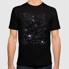 Star Ships Black Mens Fitted Tee LARGE