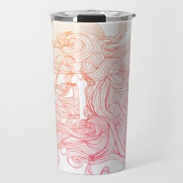 She Could Dream All Day (Ombre) Travel Mug