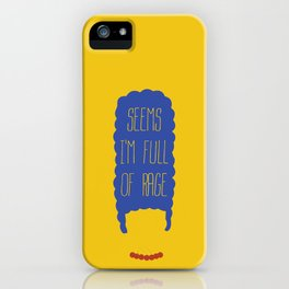 The simpsons - Marge Simpson - Seems I'm full of rage iPhone Case