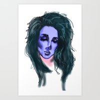lana Art Prints featuring Lana by icanbeme