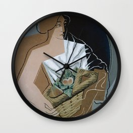 Juan Gris - The Woman With The Basket Wall Clock