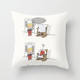Mister Wilson Throw Pillow