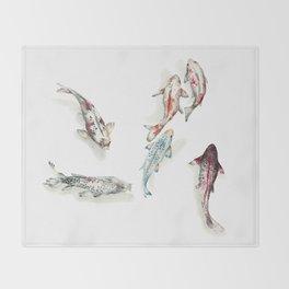Koi Fish Watercolour Throw Blanket