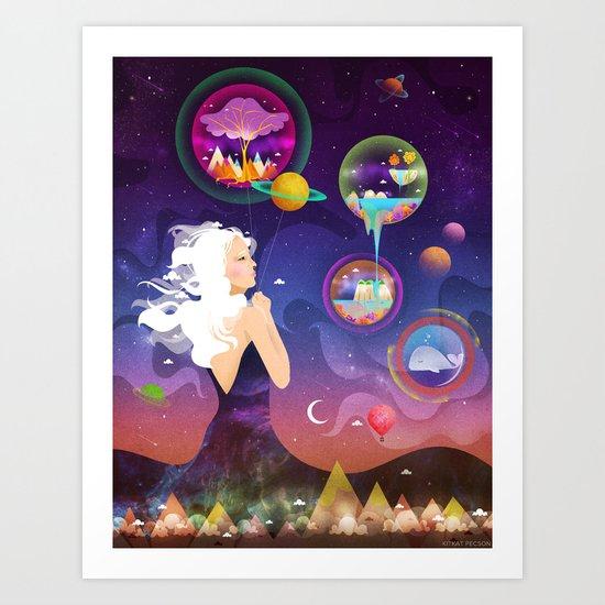 Wonderworlds Art Print