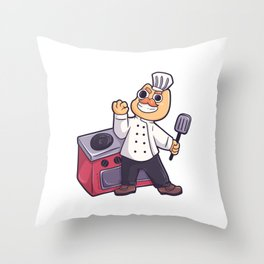 Cooking food cat vegan tasty gift Throw Pillow
