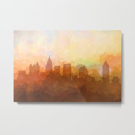 Atlanta, Georgia Skyline - In the Clouds Metal Print