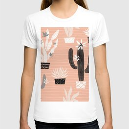 Cactuses succulents wild seamless pattern flowers colorful watercolor bright collections. Cacti beautiful trendy fashion fabric pattern. Hand drawn vintage illustration.  T-shirt