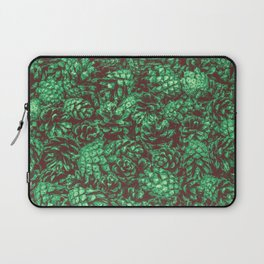 Scent of Pine RETRO GREEN / Photograph of pine cones Laptop Sleeve