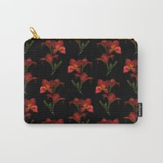 Red Lily Flowers Carry-All Pouch