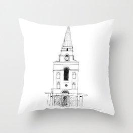 Spitalfields Church, London Throw Pillow