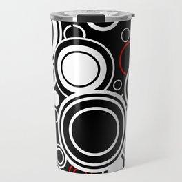 Retro Red And White Circles Travel Mug