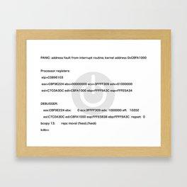 Kernel_Panic Framed Art Print