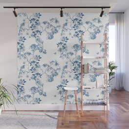 Chinoiserie in White Wall Mural