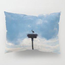 A Stork among the Clouds Pillow Sham
