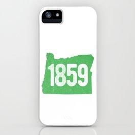 Classic Retro Oregon Established 1859 State Pride Vintage iPhone Case