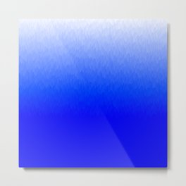 Blue to White ombre flames Metal Print