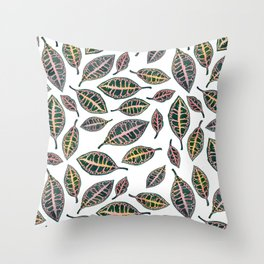 Petra Leaves Throw Pillow