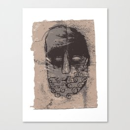 Tidal mask Canvas Print