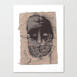 Tidal mask Canvas Print