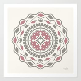 Heart Mandala – Pink Art Print