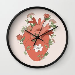 The Missing Piece Wall Clock