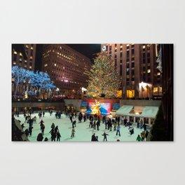 Rockefeller Center Ice Skating Canvas Print