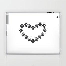Paw Prints Heart Laptop & iPad Skin