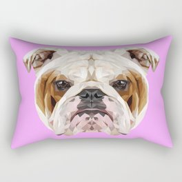English Bulldog // Lilac Rectangular Pillow
