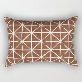 geometric triangles - brandywine Rectangular Pillow