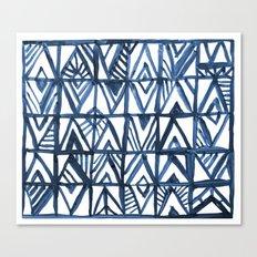 Geometric Indigo Canvas Print
