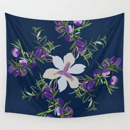 2941 Appleberry Iris P1 Blue Wall Tapestry