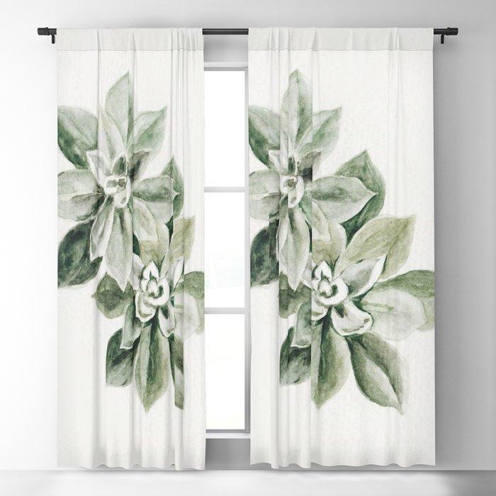 Sedum Succulents Blackout Curtain