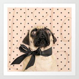 Trés Chic Pug Art Print