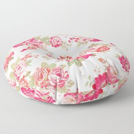 Elise shabby chic on white Floor Pillow