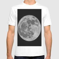 full moon Mens Fitted Tee White MEDIUM