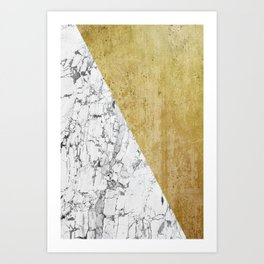 Marble vs GOld Art Print