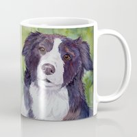 border collie Mugs featuring Border collie 3 by Doggyshop
