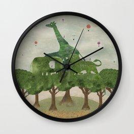 safari wood Wall Clock