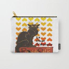 Le Chat Damour De Rodolphe Salis Valentine Cat Carry-All Pouch