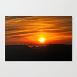 Sunrise over Friant Table Mountain Canvas Print
