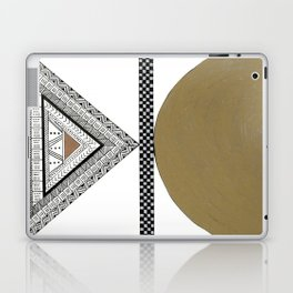 Geometric Shapes with Gold, Copper and Silver Laptop & iPad Skin