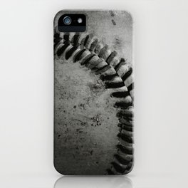 Black and white Baseball iPhone Case