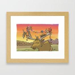 Blind Elk Framed Art Print