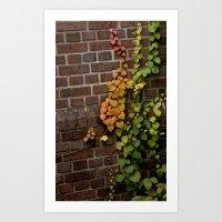 climbing Art Prints featuring Climbing by C. Wie Design