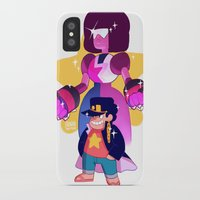 jjba iPhone & iPod Cases featuring steven and his stand by JohannaTheMad