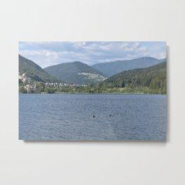 Scenic view of the Lake of Serraia Metal Print