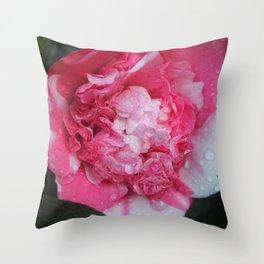 Camellia Raindrops Throw Pillow